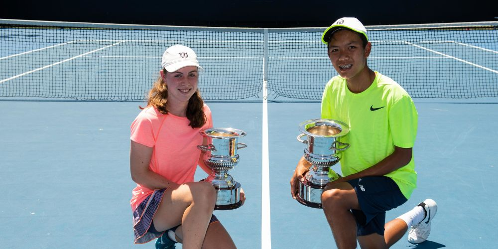 Talia Gibson and Derek Pham claimed titles at the December Showdown at Melbourne Park.
