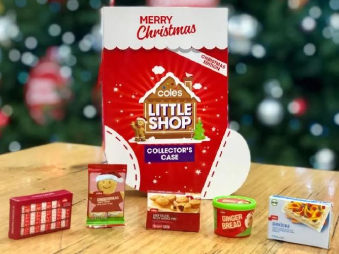 Coles Little Shop Christmas collectables hit stores on Friday.