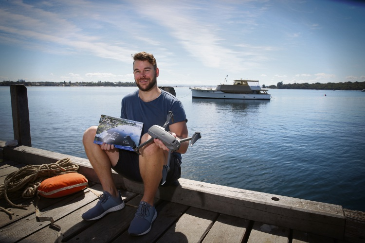 Kwinana drone photographer Nick Rafferty won the competition for pictures for the 2019 Mosman Park calendar. Picture Andrew Ritchie.