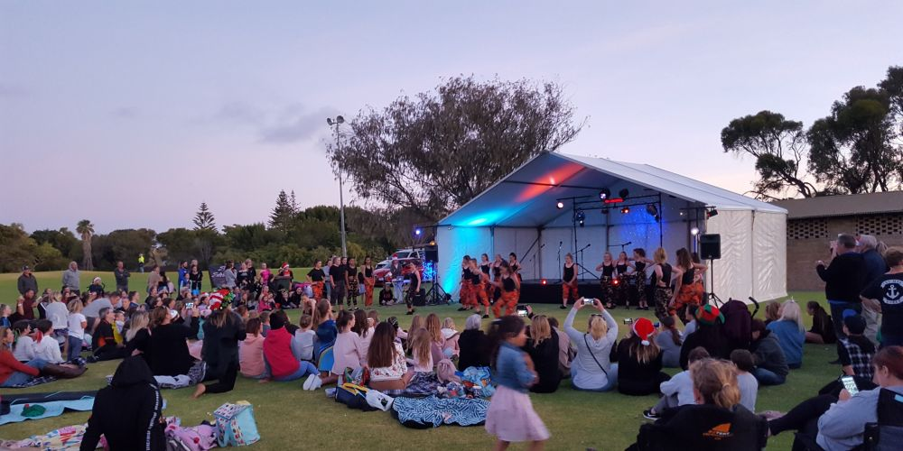 The Yanchep Two Rocks Community Recreation Association hosts annual events, including the recent Carols in the Park.