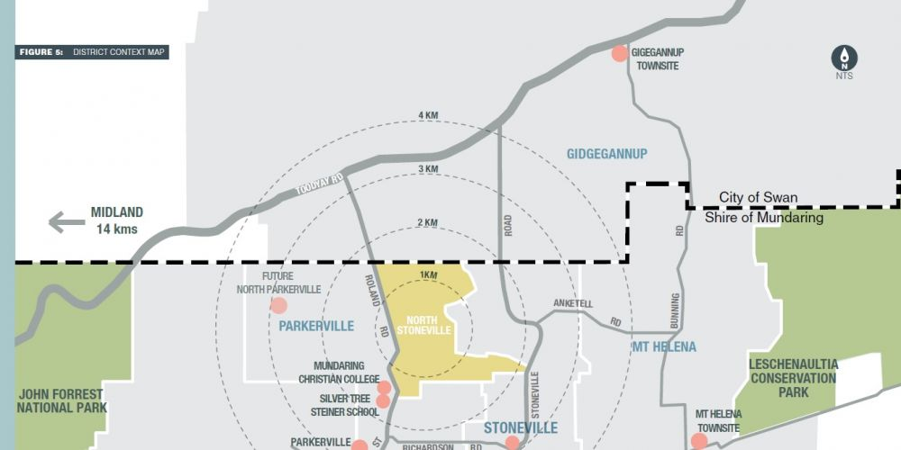 The proposed North Stoneville townsite.