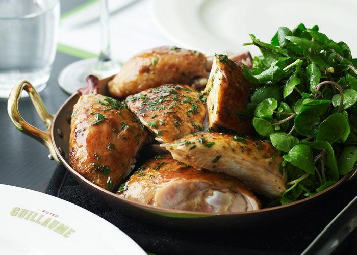 Enjoy Guillaume Brahimi's classic roast chicken on Christmas Day. Picture Crown Perth.