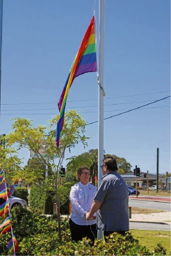 Richmond Wellbeing in Cannington show support for LGBTIQ community