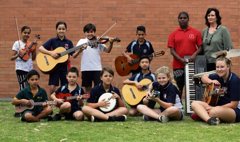 Stirling Community Youth Band and Takari Primary School music teacher Collean Campione. Photo: Martin Kennealey