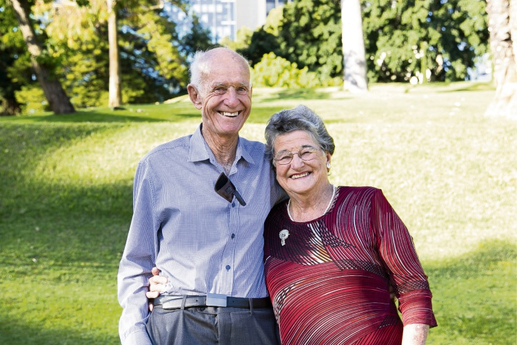 Patricia Newton with her husband.