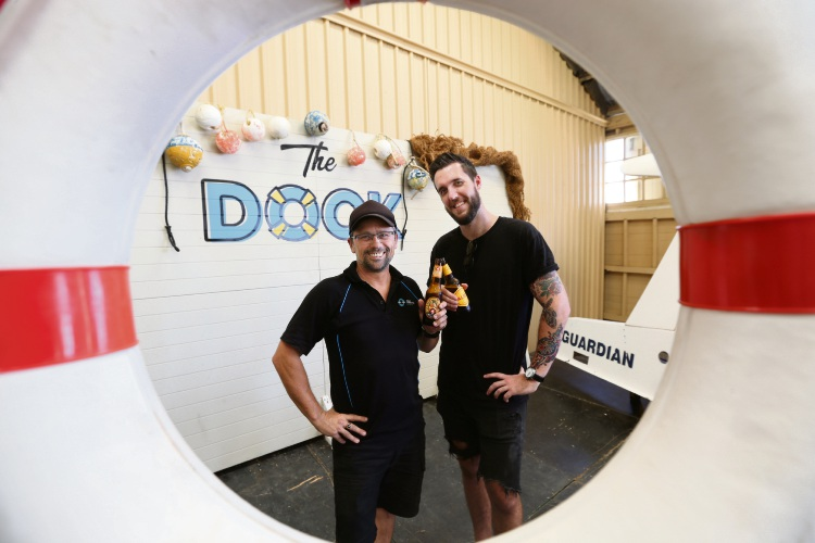 Directors Tim Caporn and Pierce Ericson at the new Dock bar at Fremantle B Shed. Photo: Andrew Ritchie. d489369 communitypix.com.au