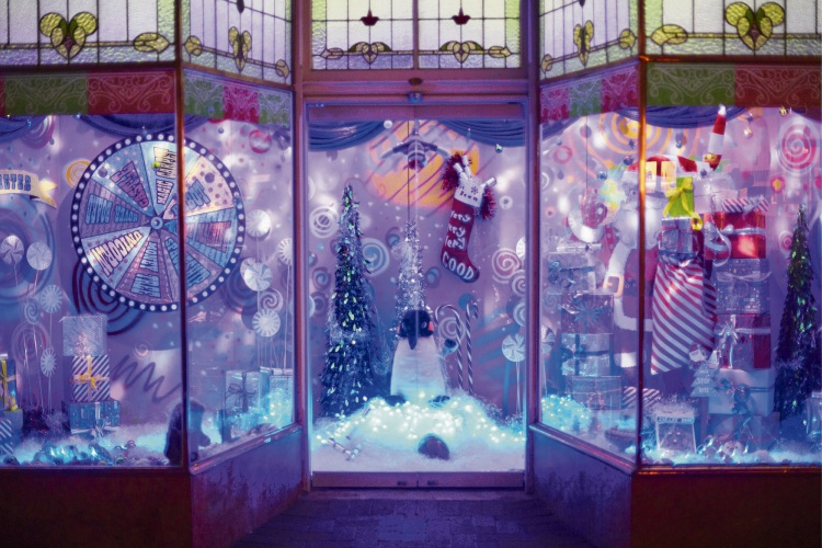 One of the four Christmas window installations along Rokeby Road.
