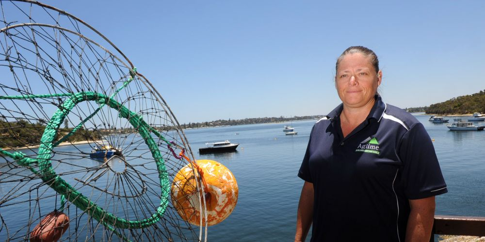 Crabber Tammy Violante was suspicious as soon at she saw the crab in her nets at Bicton. Picture: Jon Bassett.