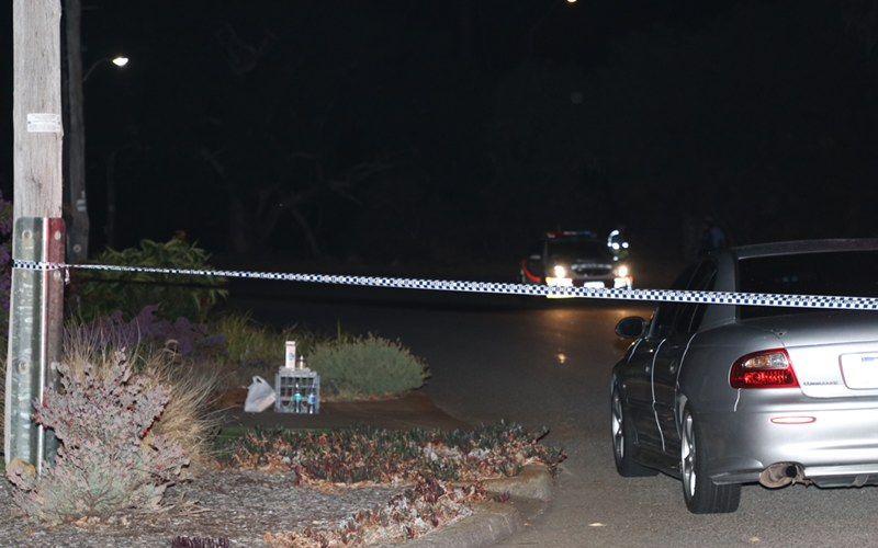 Police have cordoned off the scene of a shooting in Bateman. Picture: Anton La Macchia