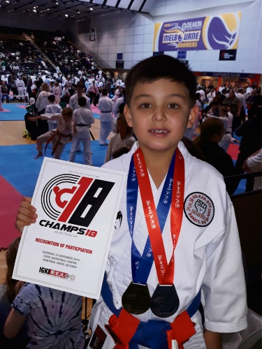 Karate: Ballajura athlete Taiyang Linnell (8) eyes more national glory in 2019