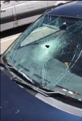 Cody Akiba Moore took a video of the trashed car in the Rockingham Shopping Centre carpark.