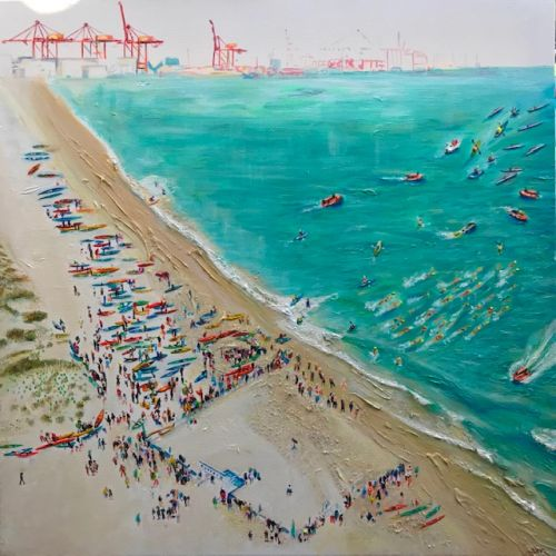 Art by Cottesloe's Sim Campbell-Pope will promote the 2019 Hotel Rottnest Port to Pub.