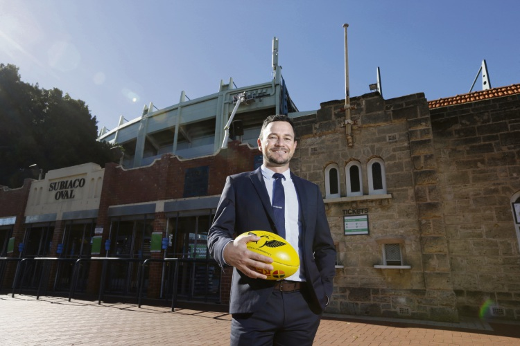 WA Football Commission chief executive Gavin Taylor pictured at Subiaco Oval in 2017. Photo: Andrew Ritchie