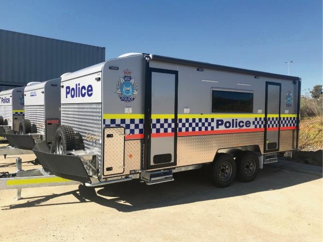 Wangara-based Explorex Caravans built meth vans for WA Police.