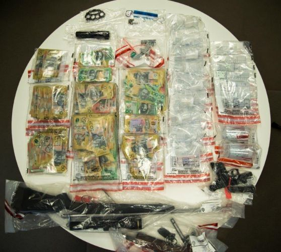 Some of the items seized by police. Photo: WA Police