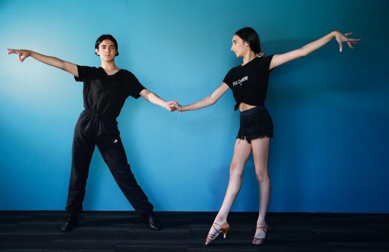 Luke Stoksic (15) and Alexia Femia (14). Photo: Martin Kennealey