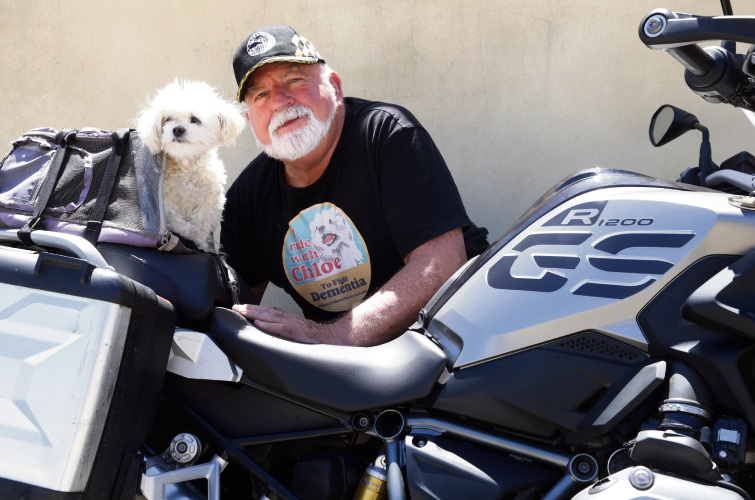 Ken Eaton (Joondalup) and his dog Chloe. Photo: Martin Kennealey