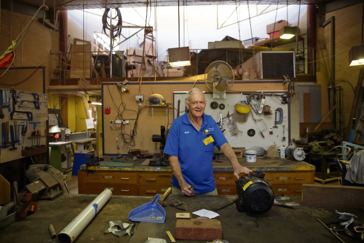 Bob Allen (Joondalup Men's Shed). Photo: Martin Kennealey