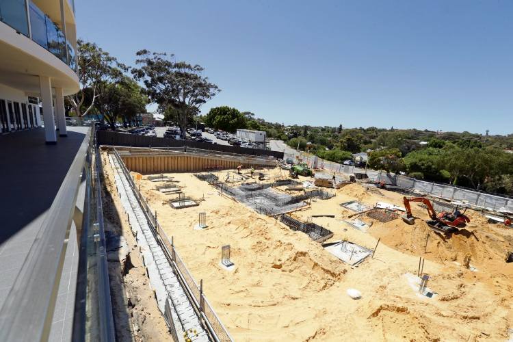 The Marri Road development is already under construction. Picture: Martin Kennealey