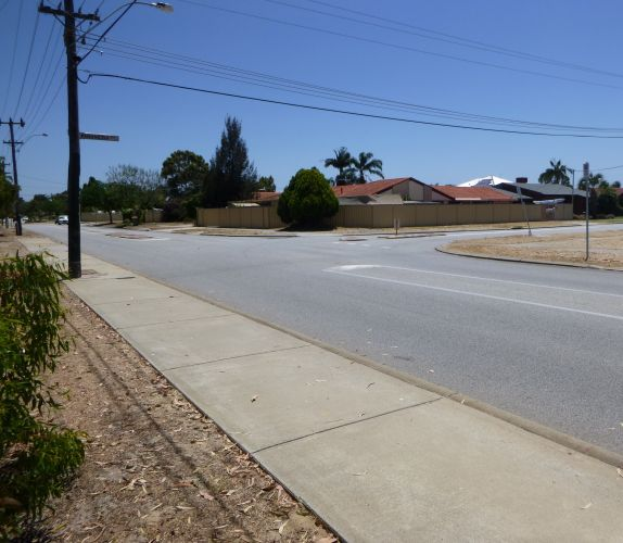 The scene of the incident in Willetton.