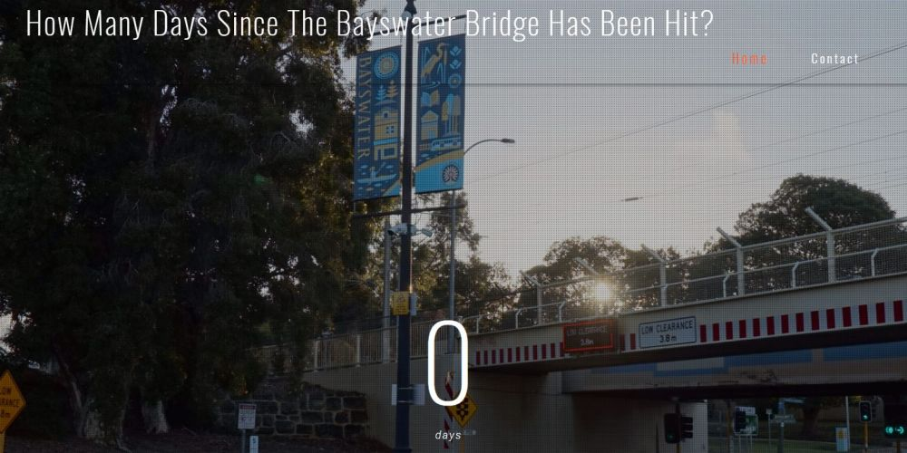 Truck hits Bayswater Bridge … reporter has existential crisis (again)