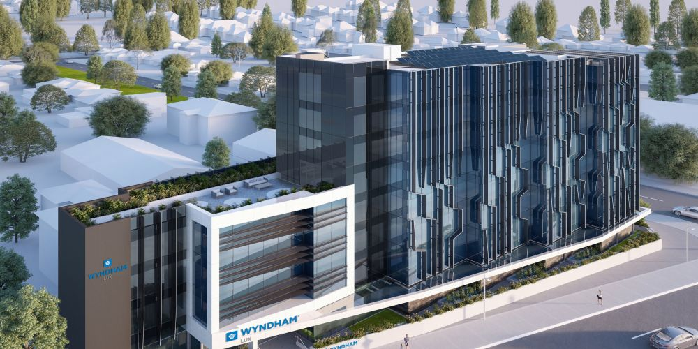 Artist's impression of the Wyndham LUX Perth hotel on Great Eastern Highway in Rivervale.