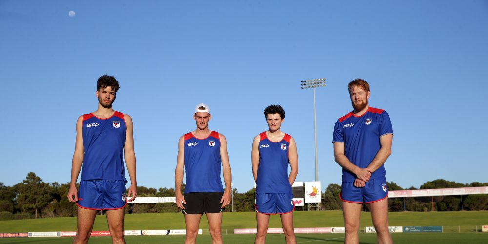 West Perth footballers Ben Delaporte, Sam Rotham, Noah Pegoraro and Troy Yukich. Picture: Martin Kennealey d489765
