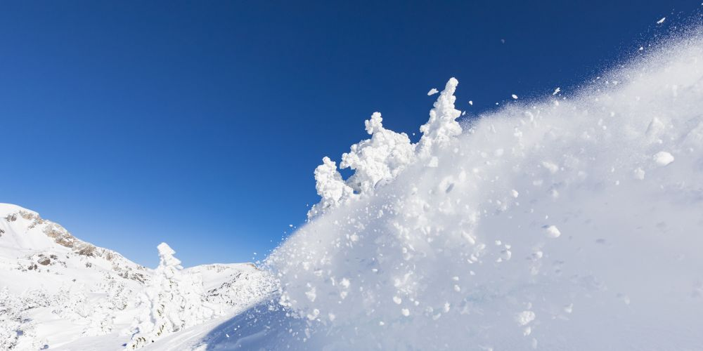 Snow avalanche. Stock image.