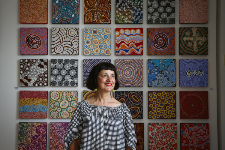 Director Anna Kanaris at Artitja Fine Art. Photo: Andrew Ritchie