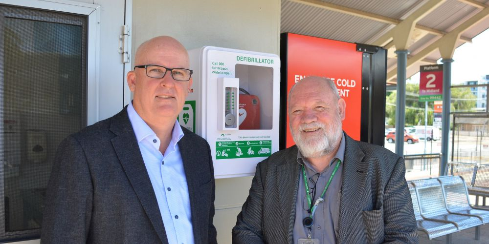 Train passengers given access to life-saving defibrillators at Perth stations