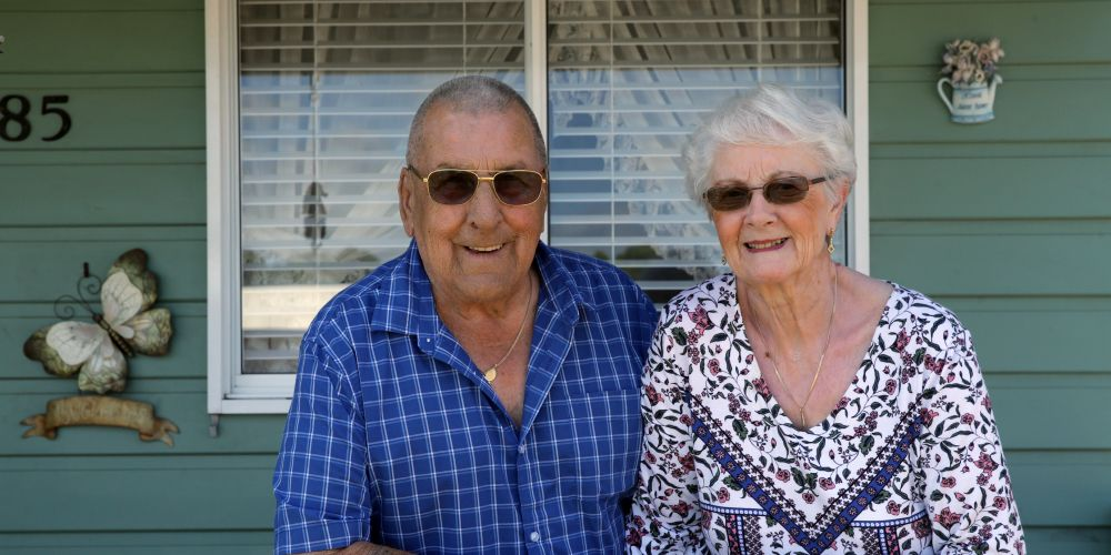 Alan and Sylvia Reyner, of Tapping, celebrate their 60th wedding anniversary. Picture: Martin Kennealey d489675