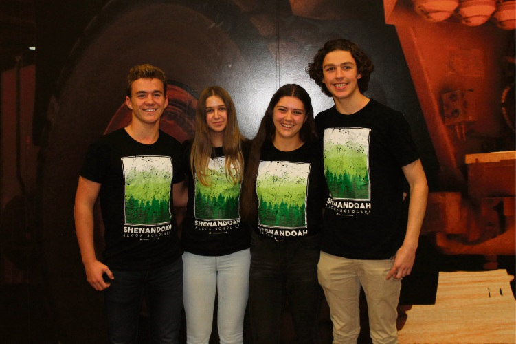 Frederick Irwin Anglican School student Ben Roots, Halls Head Community College students Naomi Damstra and Heidi Redmond and Mandurah Catholic College student Liam Hannah took part in the NatureBridge program last year.