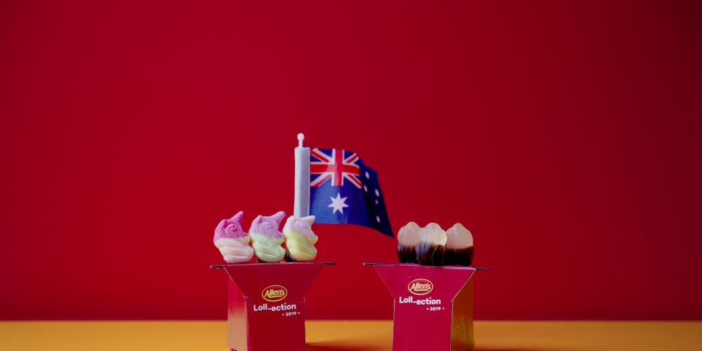 Allen's is holding an election to decide if cola frogs or unicorns will be its new lolly
