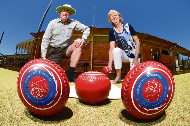 Mt Pleasant Bowling Club president Robert Cook and social chairwoman Susan Allen are encouraging people to join in social bowls. Picture: Jon Hewson.