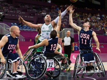 Brad Ness competing against the United States. Picture: Australian Paralympic Committee.