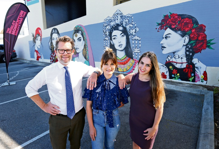 Morley: Fashion illustrator Pippa McManus celebrates multicultural women on latest mural