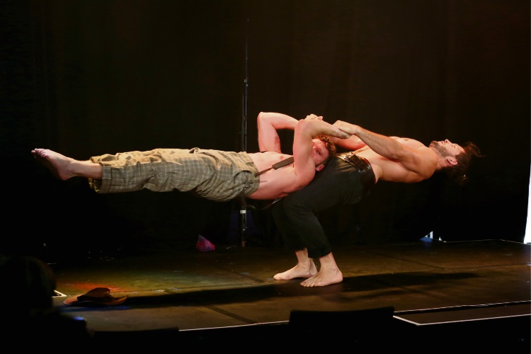 Head First Acrobats perform Railed. Picture: Andrew Ritchie