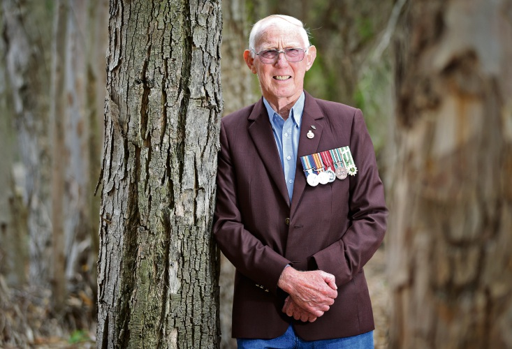 Vietnam Veterans Association of Australia state president Richard Williams has received a Medal of the Order of Australia. Picture: David Baylis