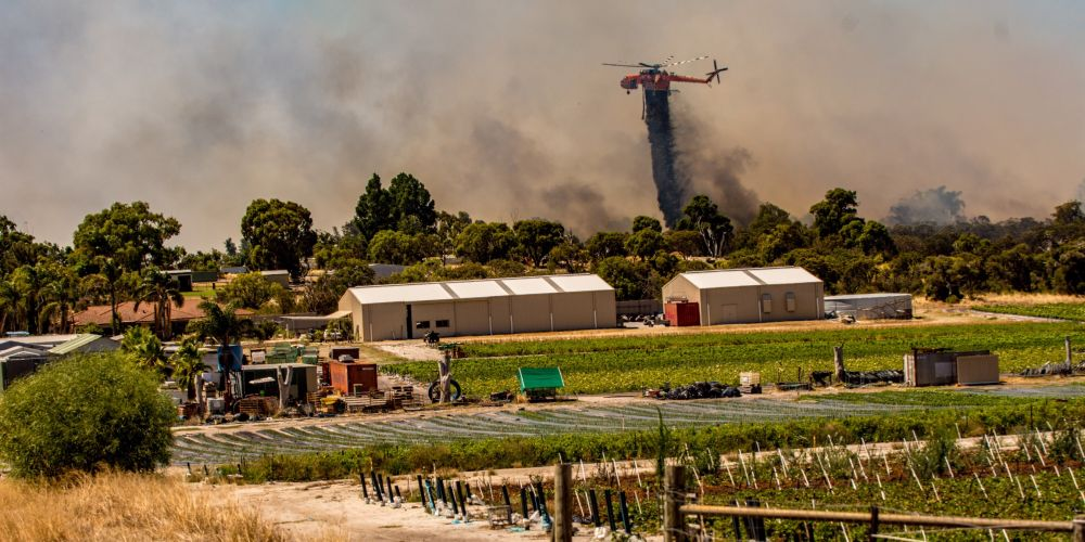 Bushfire in Jandabup. Picture: Josh Tucker