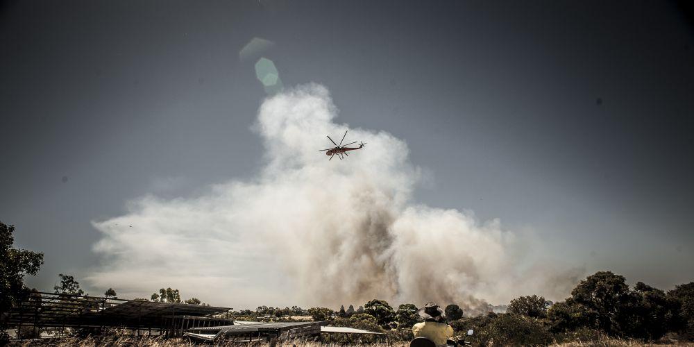 Jandabup bushfire on Australia Day. Picture: Josh Tucker