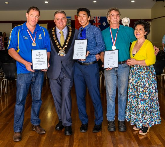Gosnells mayor Glenn Dewhurst with the  Citizen of the Year recipients.
