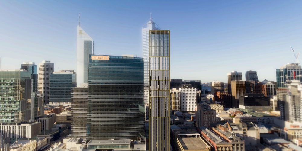 A proposed 39-storey student housing development on Wellington Street, Perth. Pictures: MJA Architects.