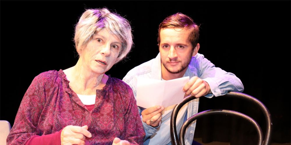 Grace (Hamilton Hill resident Sharon Menzies, left) with grandson Tim (Elias Cuzens) in The Greening of Grace.
