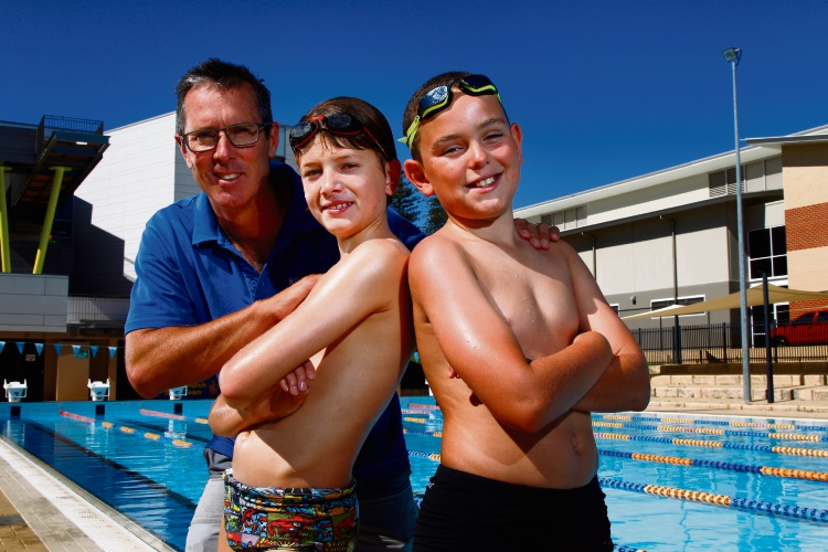 Bill Kirby has organised swimming races between public and private students.  Picture: Marie Nirmie.