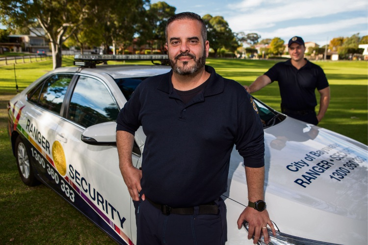 City of Bayswater security and crime prevention coordinator Elan Tzabary and ranger Steven Hosszu.