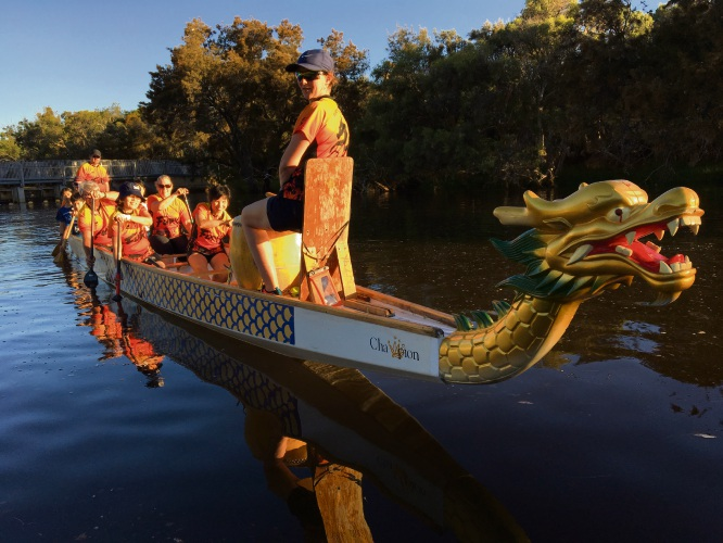 Members of the Fury River Dragon Boating Club.