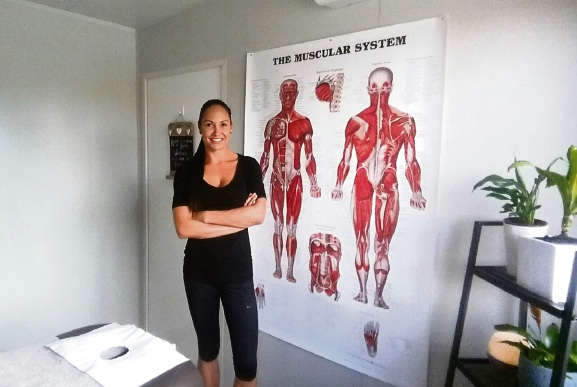 Malia Areke at her Gwelup business Areke Remedial after it opened.