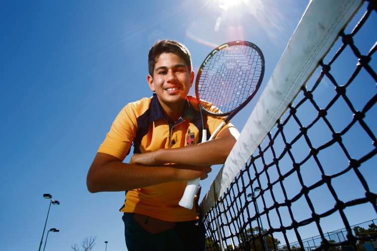 Zachary Viiala (13) is one of the best tennis players in the nation for his age group Picture: Marie Nirme