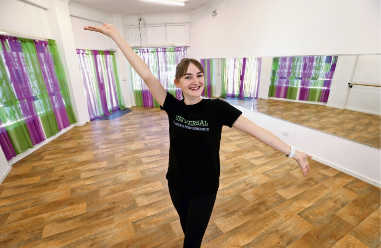 Universal Dance & Performance director Jaclyn Clarke in the new Como dance studio. Picture: David Baylis