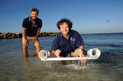 The Oceans Institute's (l-r) Todd Bond and Tim Langlois say their research and sanctuaries worldwide show a case for no fishing at the Reef Fish Habitat Protection Area in Cottesloe.  Picture: Jon Bassett.